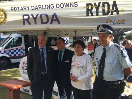 BE FATALITY FREE: Making the pledge are (from left) Toowoomba Mayor Paul Antonio, Cr James O'Shea, Deputy Mayor Carol Taylor and Police Inspector Mike Curtin.