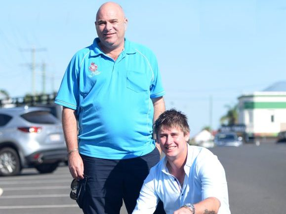 The two guys that rescued a girl from under a car. Photo: Craig Warhurst/News mail