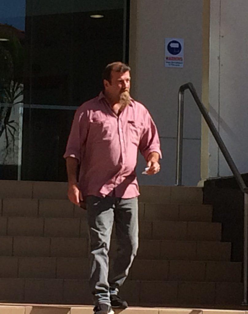 Darrell John Sigvart leaves Rockhampton Magistrates Court Photo Morning Bulletin