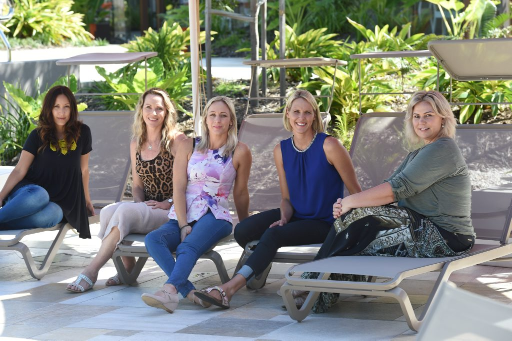 Our Hey Mumma stars Gisela Parker, Deanne Stock, Katie Dykes, Susie O'Neill and Meltopia Grandelis.