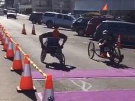 Start of Pentath-run wheelchair race in Warwick