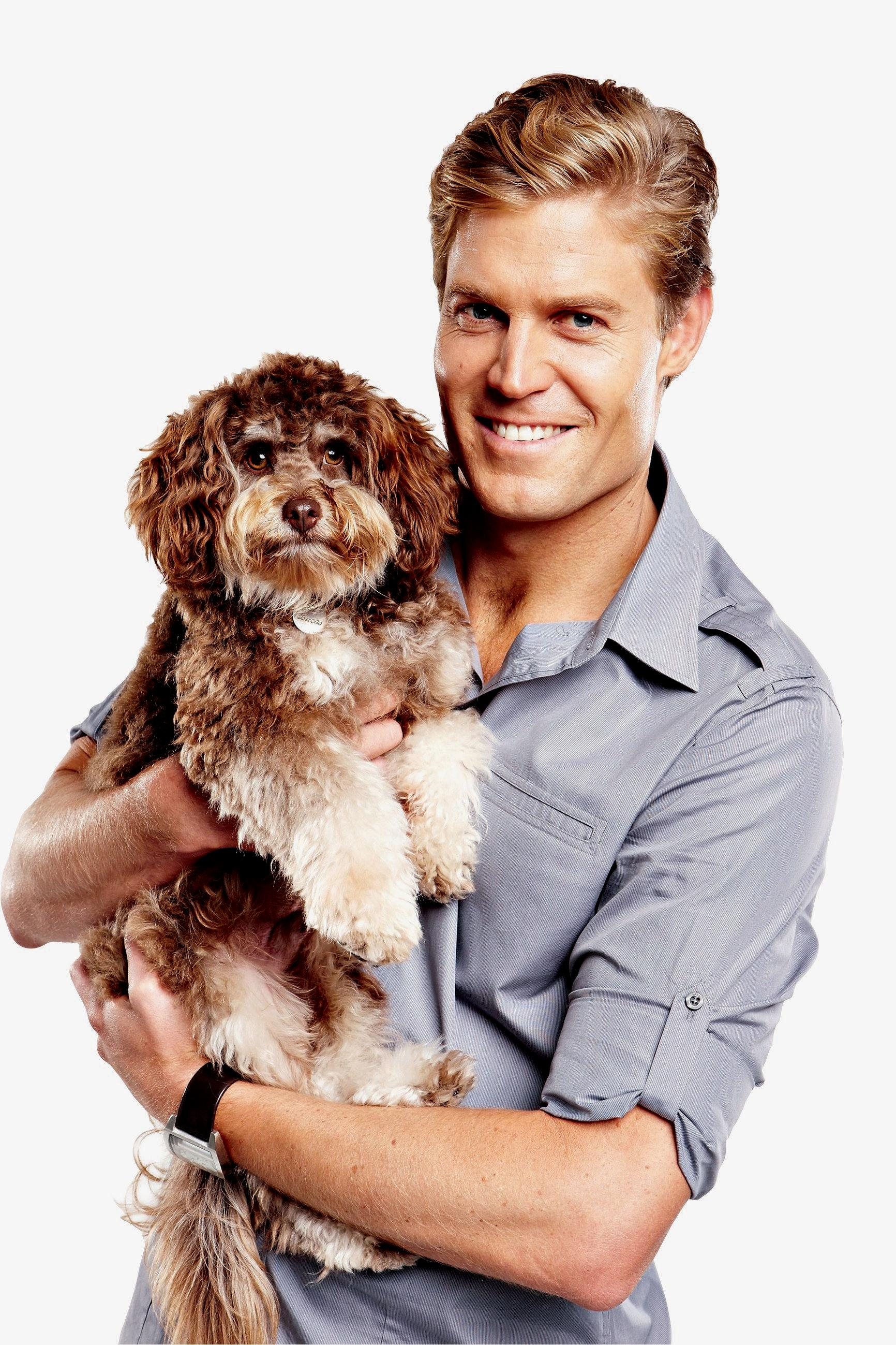 Dr Chris Brown stars in the TV series Bondi Vet. Supplied by Channel 10.