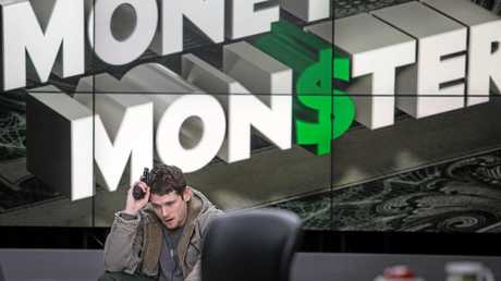 Jack O'Connell in a scene from the movie Money Monster.