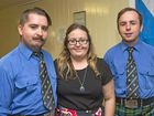 SCOTTISH CELEBRATION: Ready to take part in the dancing are (from left) Lance Andrews, Shauni Gimm and Bryce Andrews.