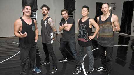 HIP-HOP FUN: Ready to show off their skills are (from left) Stephen Gow, Anastasios Repousis, Nick Power, Chungki Kim and Aaron Mahuika.
