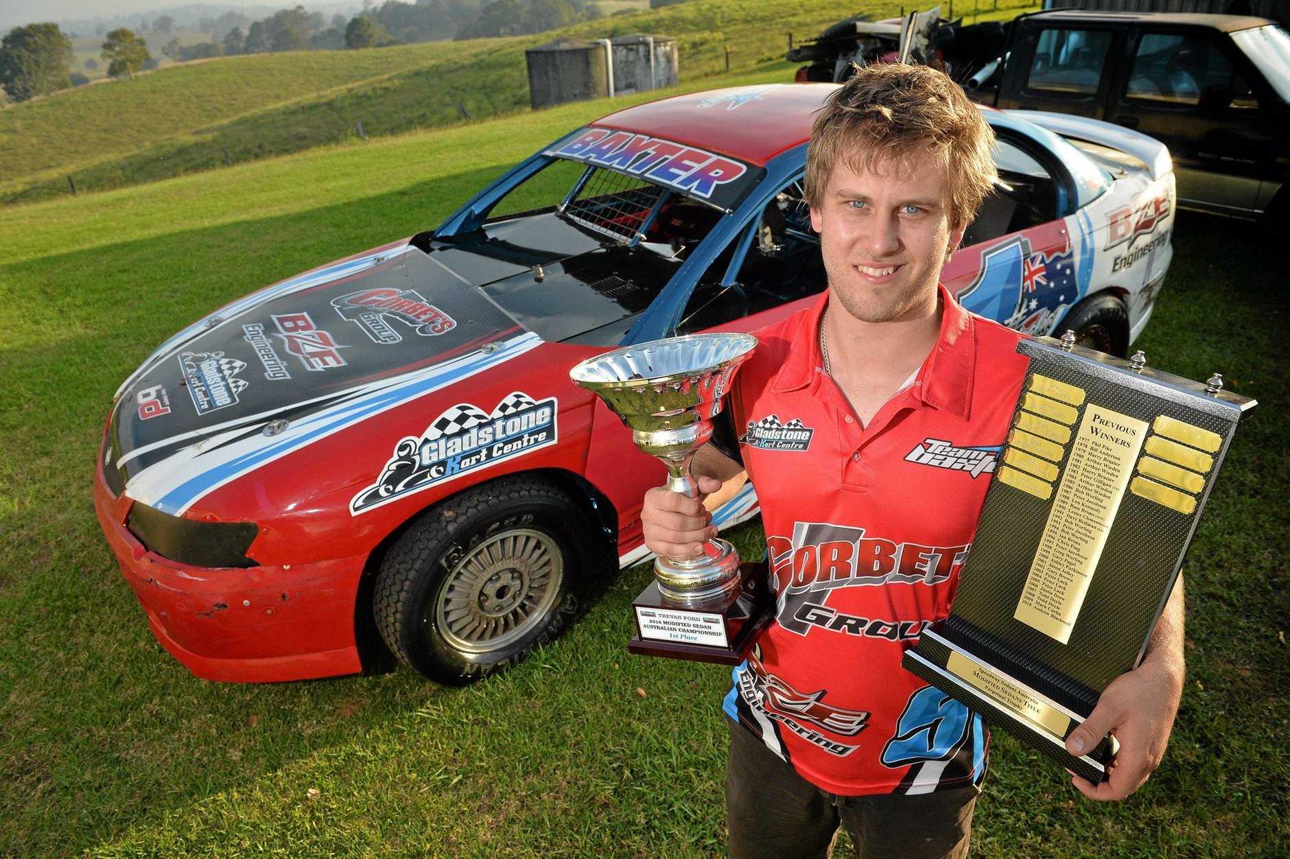 IN FORM: Gympie's super sedan driver Brett Baxter.