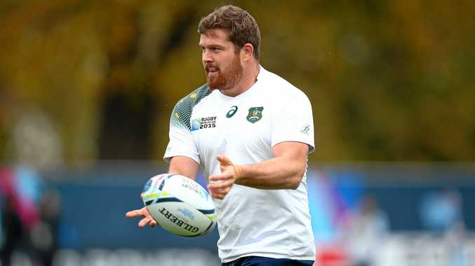 SQUAD MEMBER: Greg Holmes and the Wallabies will train on the Sunshine Coast next week.