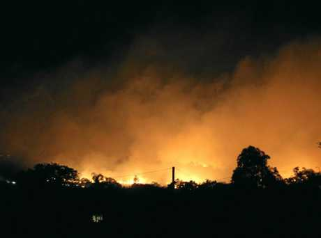 The fire on Paroz St, Laidley, captured by Ray Watterson.