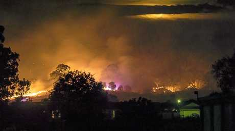 Garry Watson took this photo of the Paroz Rd fire from the end of Douglas McInnes Drv.