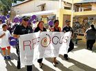 Gympie gets behind the Refocus walk against domestic violence today.