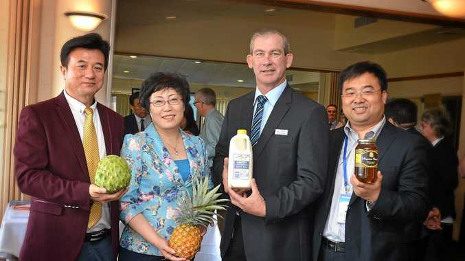 FRIENDSHIP: Chinese delegation visits Gympie region Australian International Trade Association and Associates Michael Guo, Liu Xiujing, Mayor Mick Curran and Feng Liyu.