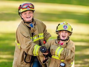 Biggest smiles from smallest firefighters