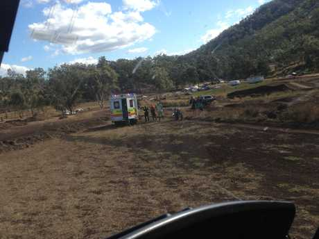 Emergency services were called to a motocross track near Tregony this afternoon after the 16-year-old girl fell from the bike.