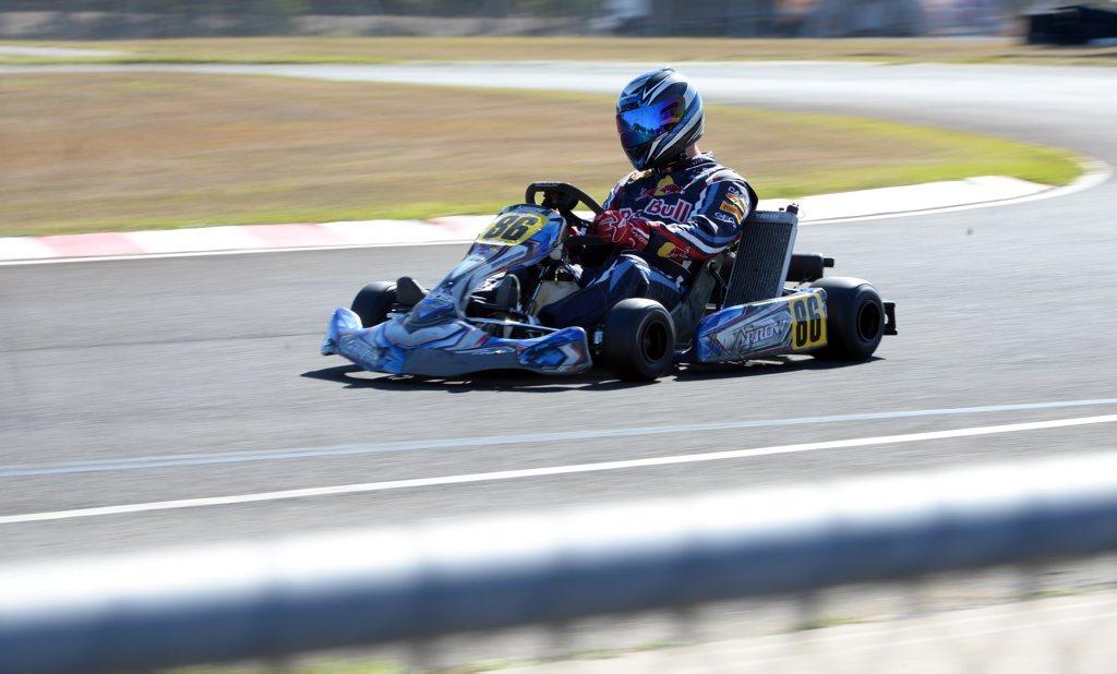 KART RACING: Brodie Kenzler competing in the TaG 125
