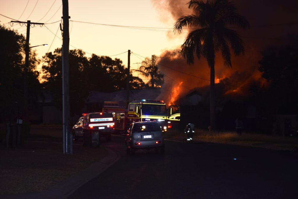 A house in Don St, Biloela was completely destroyed by fire. Photo Andrew Thorpe / Morning Bulletin