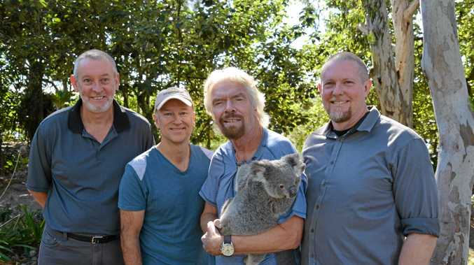 TO THE RESCUE:(From left): Prof Peter Timms, Brett Godfrey, Sir Richard Branson and Dr Jon Hanger.