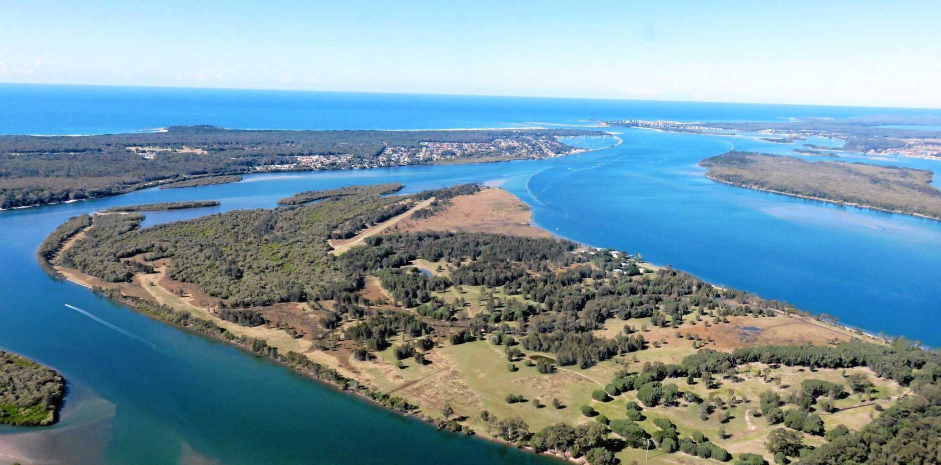 The Clarence River is the setting for the towns of Iluka (left) and Yamba (right