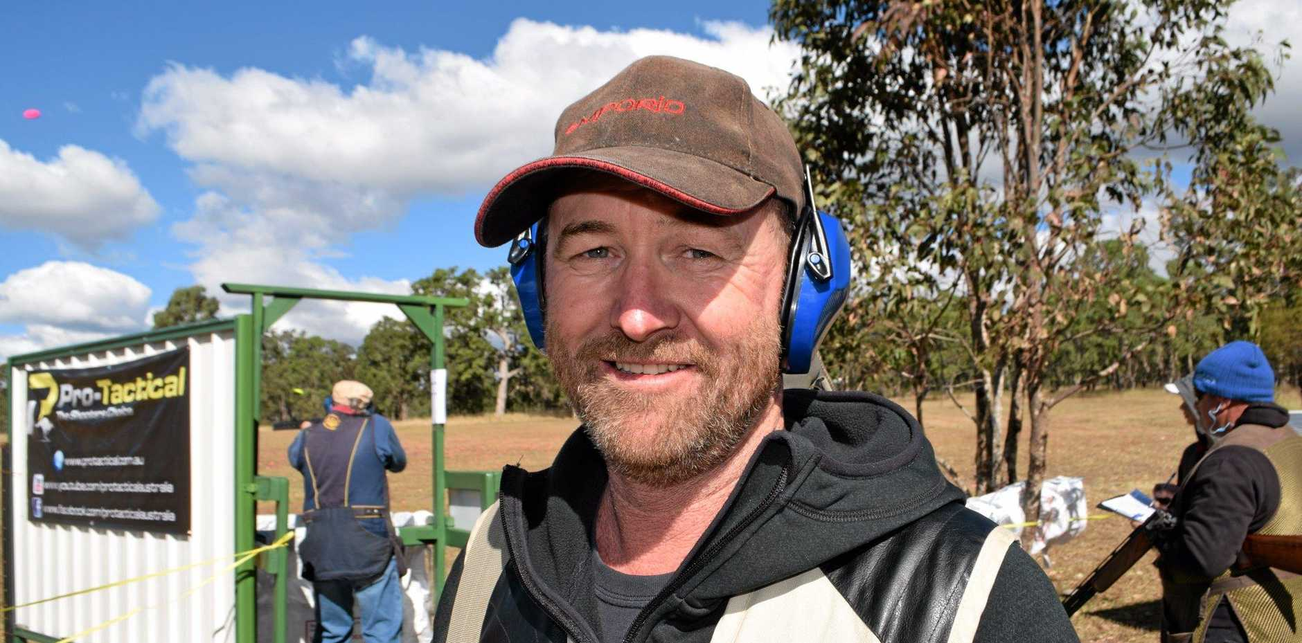 Graeme Frankling at the Cherrabah SSAA field simulation clay target competition.