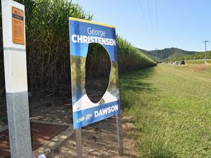 Christensen campaign signs defaced