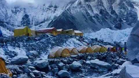 The conditions on Mt Everest