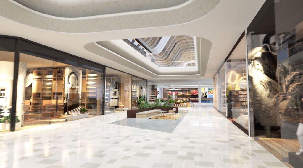 An artist impression of inside QIC's Grand Central retail bridge.