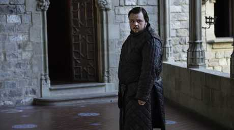 John Bradley as Samwell Tarly in a scene from Game of Thrones.