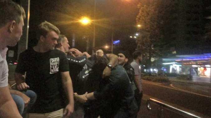 Fight outside Mooloolaba Taxi Rank