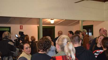 GATHERING: More than 100 people packed into Diddillibah Hall for the community meeting.