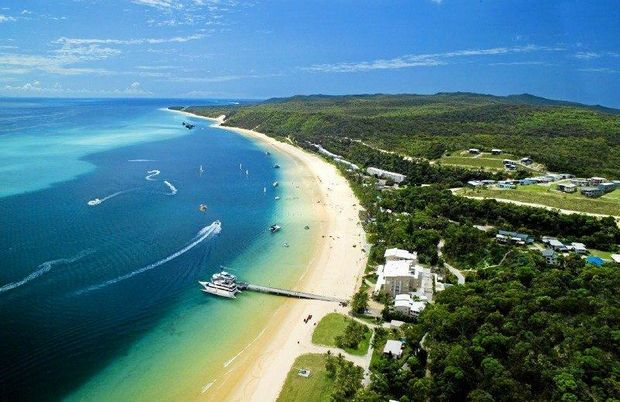 Fly over Tangalooma and Moreton Island via helicopter.   Photo Contributed