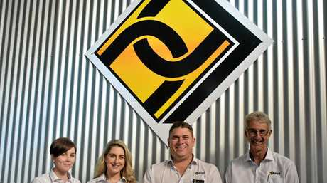 REVAMPED SPACE: DGT team (from left) Shalese Patterson, Brianna Rodgers, CEO Darren McDonell and Mal Harders show off the new space.