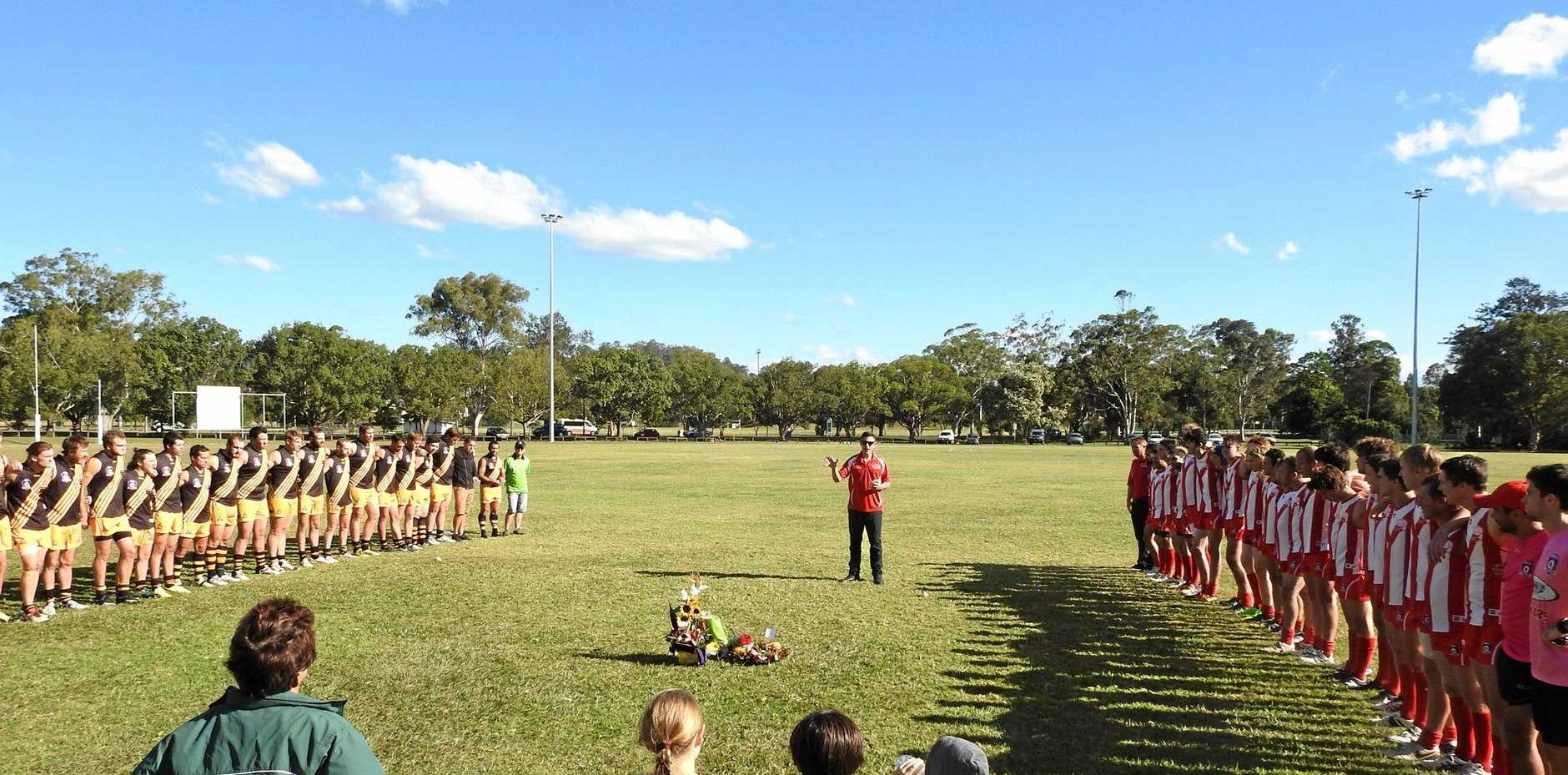 TOUCHING TRIBUTE: The Lismore Swans Football Club hosted a tribute for the late Gloria Mortimer.