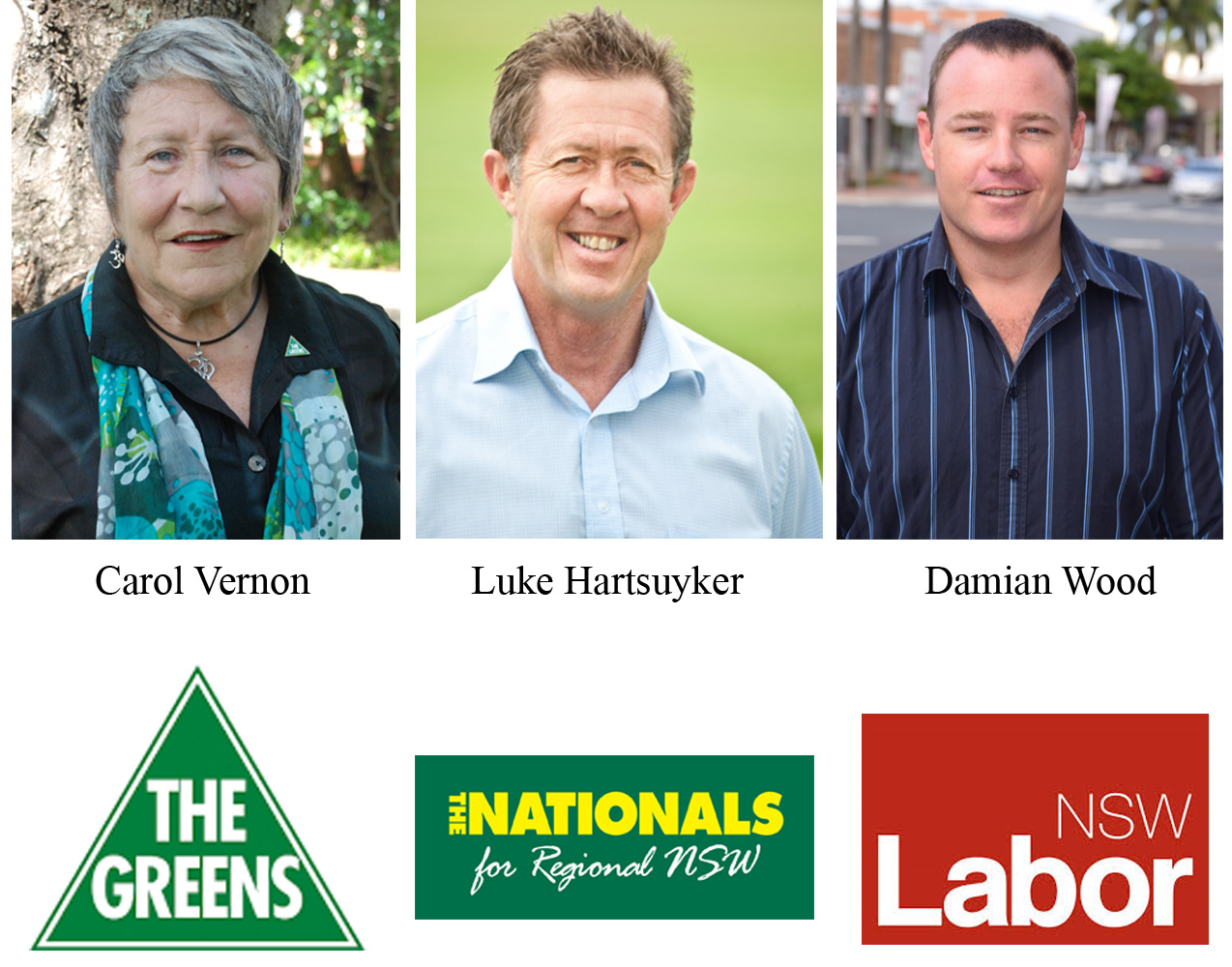 The Cowper Federal Election candidates.