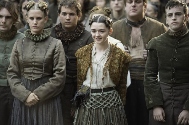 Maisie Williams in as scene from season six episode six of Game of Thrones.