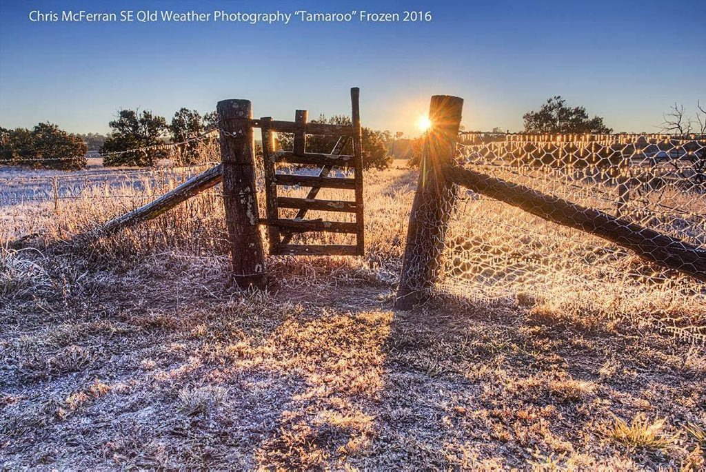 Chris McFerran SE QLD Weather Photography -2.7c near Warwick today. Last day of autumn.