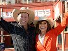 Karl Stefanovic and Lisa Wilkinson in Rockhampton. Photo Allan Reinikka / The Morning Bulletin