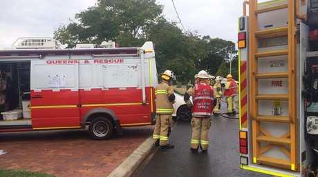 The scene of the gas leak in Toowoomba.