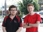 DOING OUR JOB: Jeremy Dittmer and Jaiden Ringuet often work until 5am on weekends, serving up food to the public at Real Kebab Mackay. They've seen their fair share of violent incidents in the city centre.