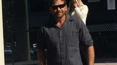 Myles Jefferson McIntosh, 38, leaves Maroochydore Court House after being sentenced for commercial fishing in protected waters.