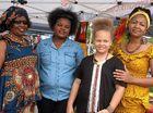 Leah Sirma, Precious Manda, Nia Barry and Rehema Barry representing Afroexpressionz and Precious Hair Braiding.