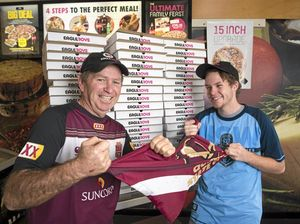 State of Origin night causes run on pizza