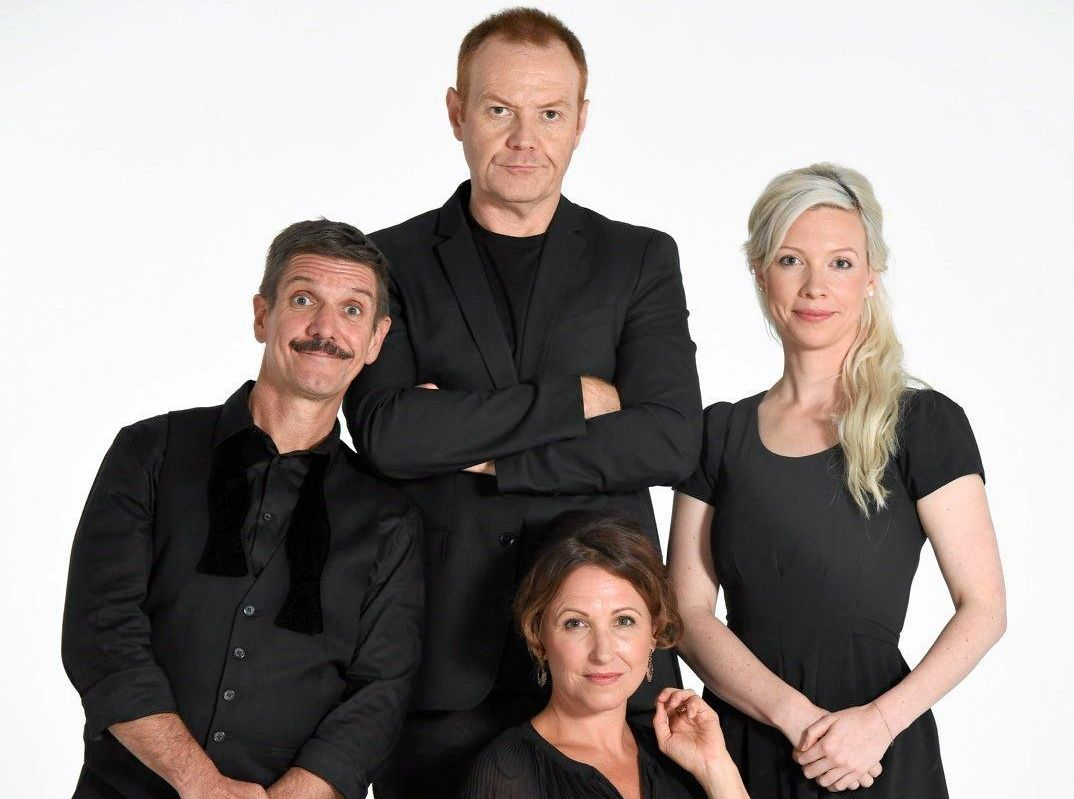 ENJOY THE SHOW: The Faulty Towers cast are ready to bring the show to the Granite Belt for the first time.