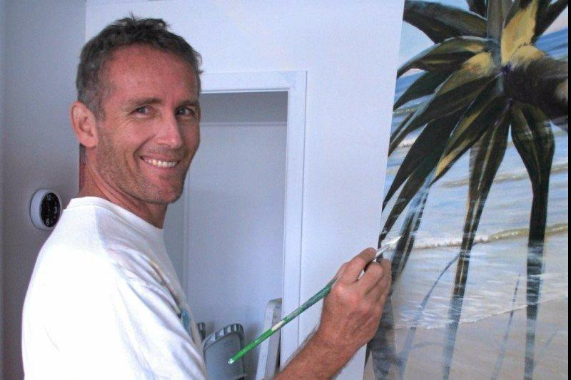 GET WELL SOON: A GoFundMe page has been set up to support the family of Lennox Head artist Mark Waller, who is in Western Australia recovering from surgery to remove a brain tumour.