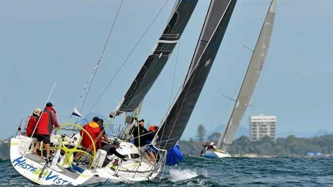 SAIL AWAY: Hasta La Vista competing in last year's Sunshine Coast Ocean Regatta.