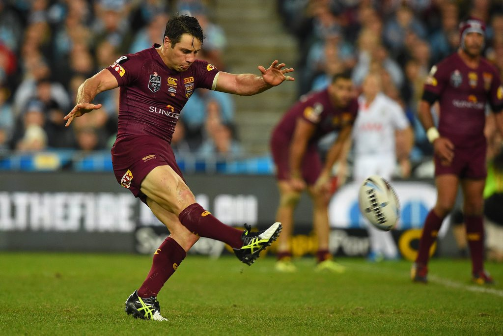 Cooper Cronk will be in action in tonight's opener against NSW in Sydney.