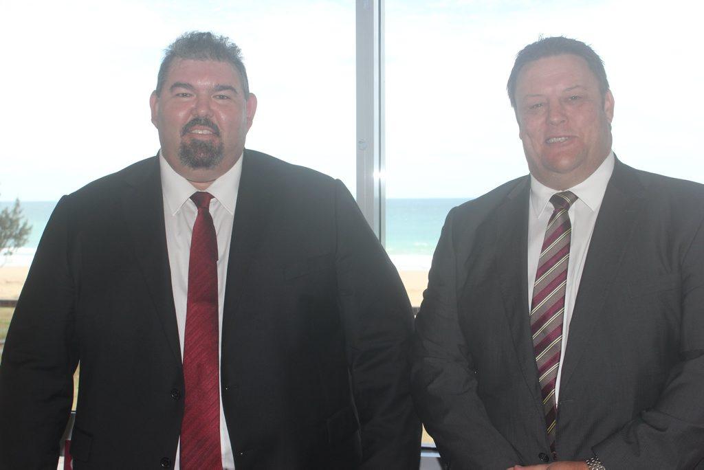 Michael Hall alongside Queensland Senator Glen Lazarus.