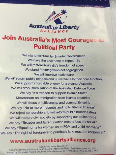 CORE VALUES: If you vote for the ALA, this is what you will be getting. Photo Declan Cooley / The Observer