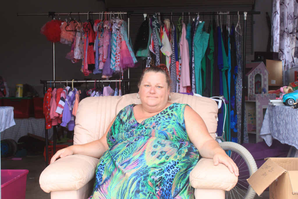 SHOCKED: Maree Hoad is having a garage sale to help pay for her electricity bill, which she says is almost 50% higher than it was on the Gold Coast.