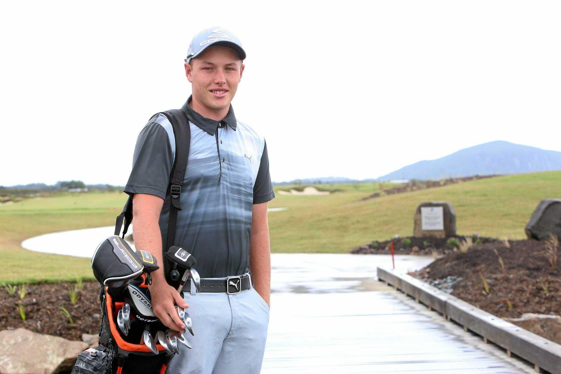 Young golfer Shae Wools - Cobb won a big golf tournment last week. Photo: Nicola Brander / Sunshine Coast Daily