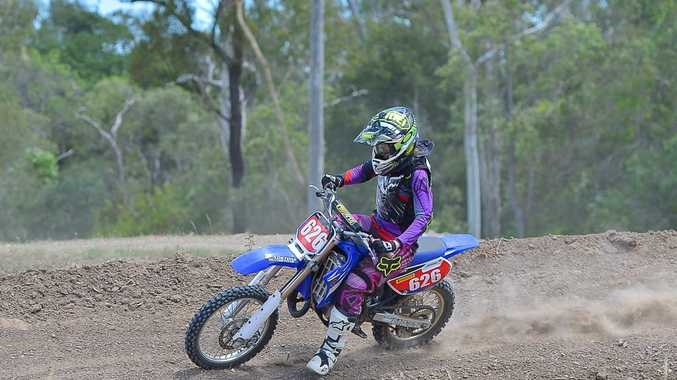Prue Maeyke at the Dirt Bike track Ladies day. Photo Mike Richards / The Observer