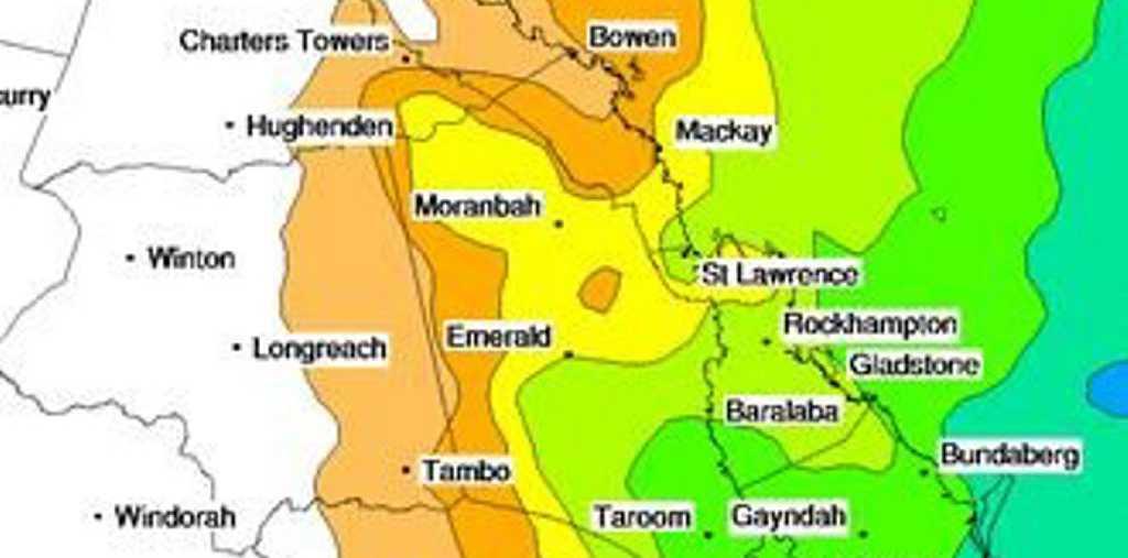 Estimate rainfall for Rockhampton on Saturday June 4 Photo: BOM